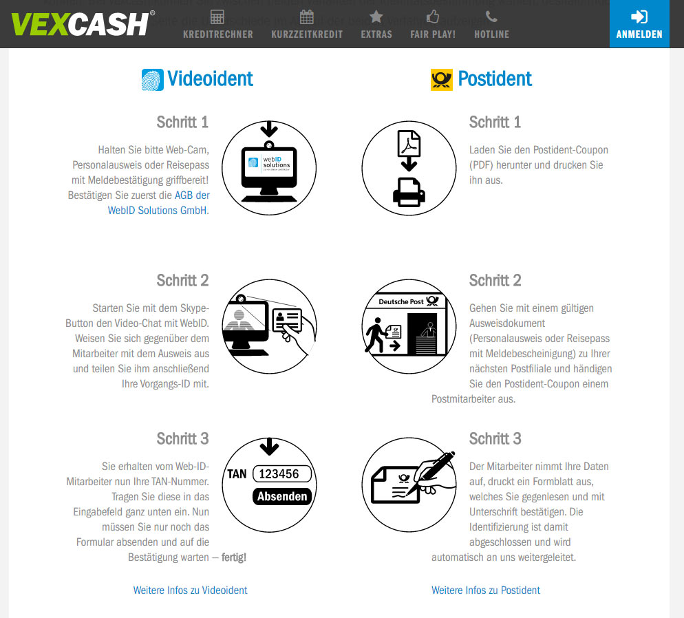 vexcash minikredit die schnellste berweisung geld. Black Bedroom Furniture Sets. Home Design Ideas